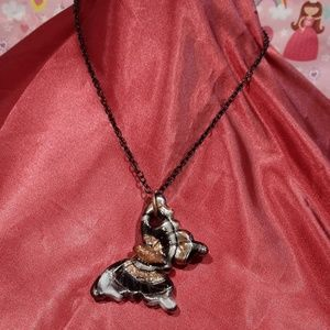 💞🆕💞 Murano Glass Butterfly Pendant Necklace